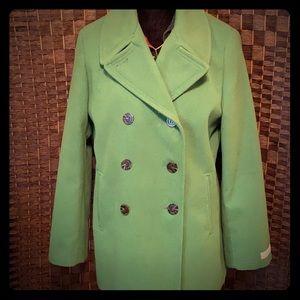 Calvin Klein Green Pea Coat